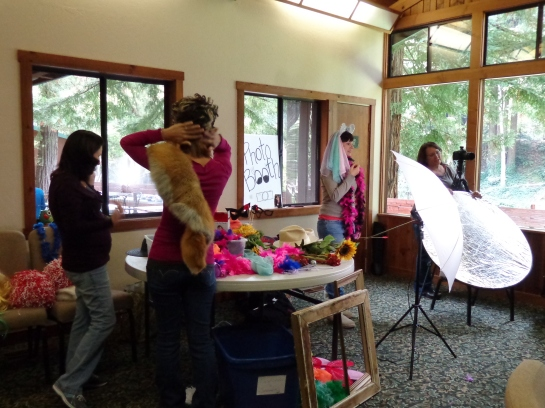 Photo Booth at Women's Retreat